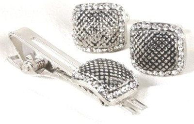 Civil Outfitters Metal Cufflink & Tie Pin Set