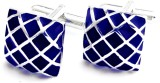 Chuck it Brass Cufflink (Blue, Silver)