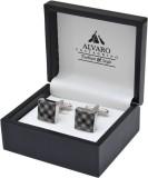 Alvaro Brass Cufflink Set (Grey, Black)