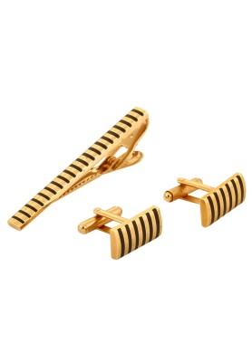 Dilan Jewels Alloy Cufflink & Tie Pin Set