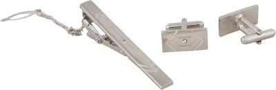Bombay High Metal Cufflink & Tie Pin Set