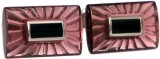 Blacksmithh Crystal Cufflink (Purple)