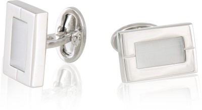 Infinity Nickel Plated with Grey Synthetic Cat Eye Cufflinks