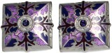 Blacksmithh Enamel Cufflink (Purple)