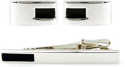 Peluche Brass, Enamel Cufflink & Tie Pin Set