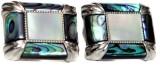 Blacksmithh Shell Cufflink (Green)