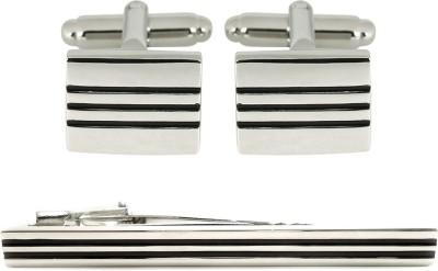 Peluche Brass Cufflink & Tie Pin Set
