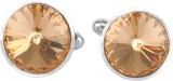 Hyness Brass, Metal Cufflink Set (Brown)
