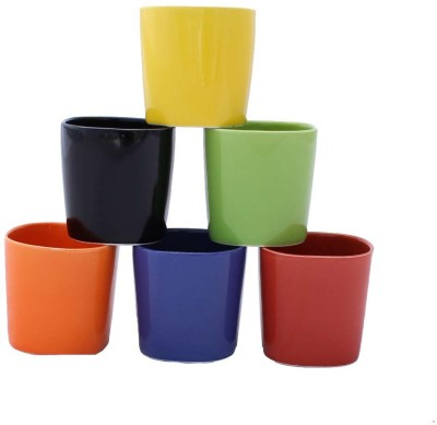Aarzool Square Design Colourful Cups