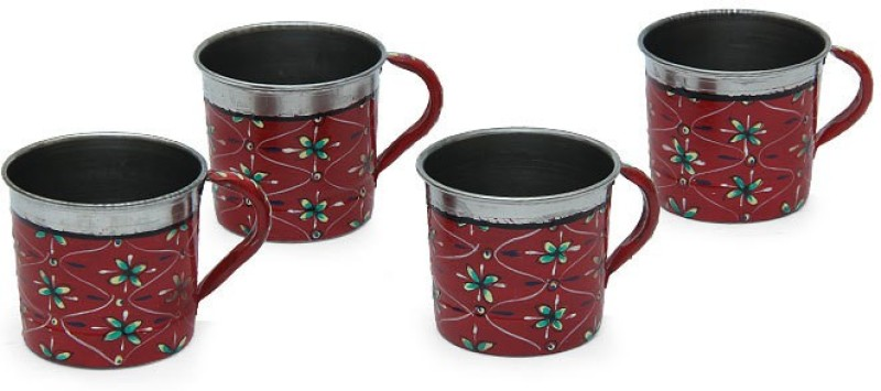 Kaushalam Cup Set Of 4 Red TCUP3(Red, Pack of 4)