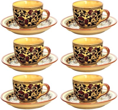 Coolethnic Tea set V6(Brown, Pack of 6)