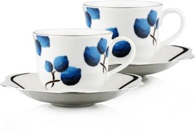 Arttdinox Blueberry Large Cup&Saucer Set Of 2 SSSC-6231-L