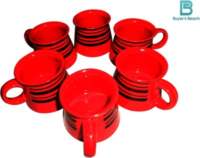 Buyer,s Beach Red Rose Cups Set of 6