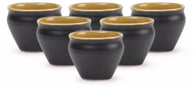 Unravel India hand crafted stoneware Kulladh set(Set of 6) HWCR0164