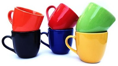 Toygully Colorful Tea Cups Set 6
