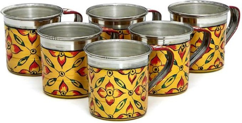Kaushalam Cup Set Of 6 Yellow TCUP23(Yellow, Pack of 6)
