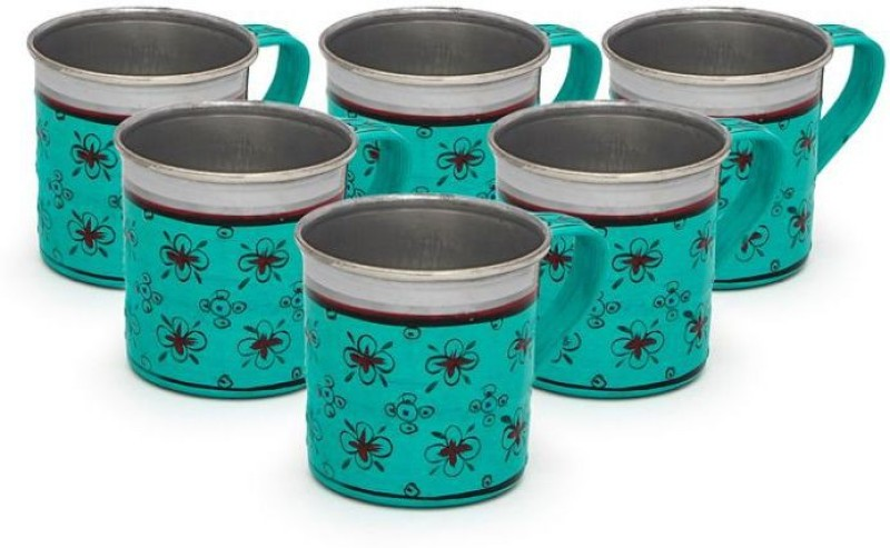 Kaushalam Cup Set Of 6 Blue TCUP10(Blue, Pack of 6)