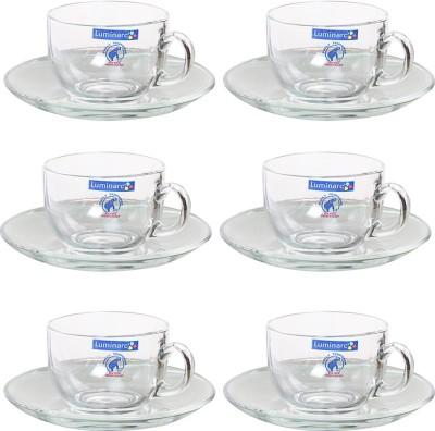 Luminarc Royal Tea Set Crystal Cup Saucer Set