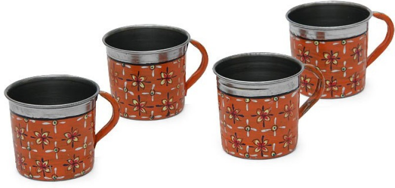 Kaushalam Cup Set Of 4 Orange TCUP1(Orange, Pack of 4)