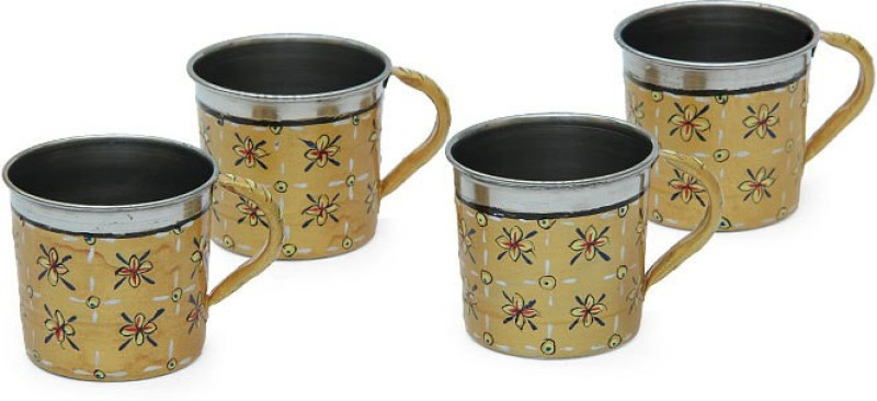Kaushalam Cup Set Of 4 Gold TCUP4(Gold, Pack of 4)