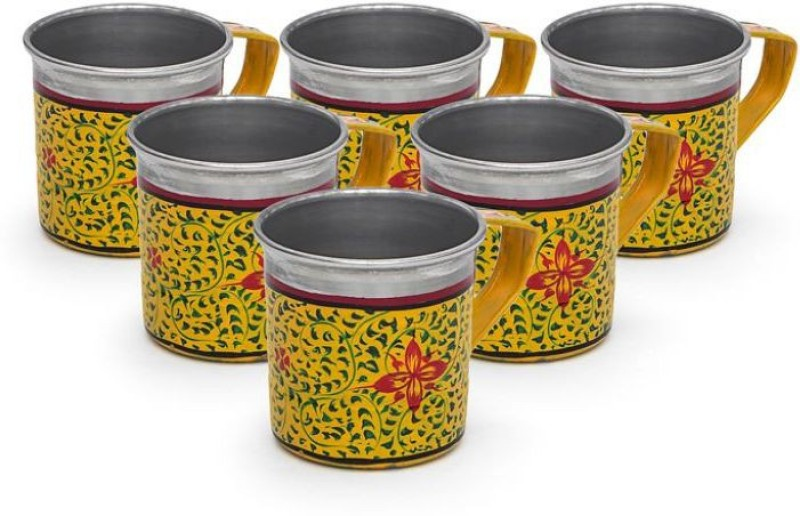Kaushalam Cup Set Of 6 Yellow TCUP16(Yellow, Pack of 6)