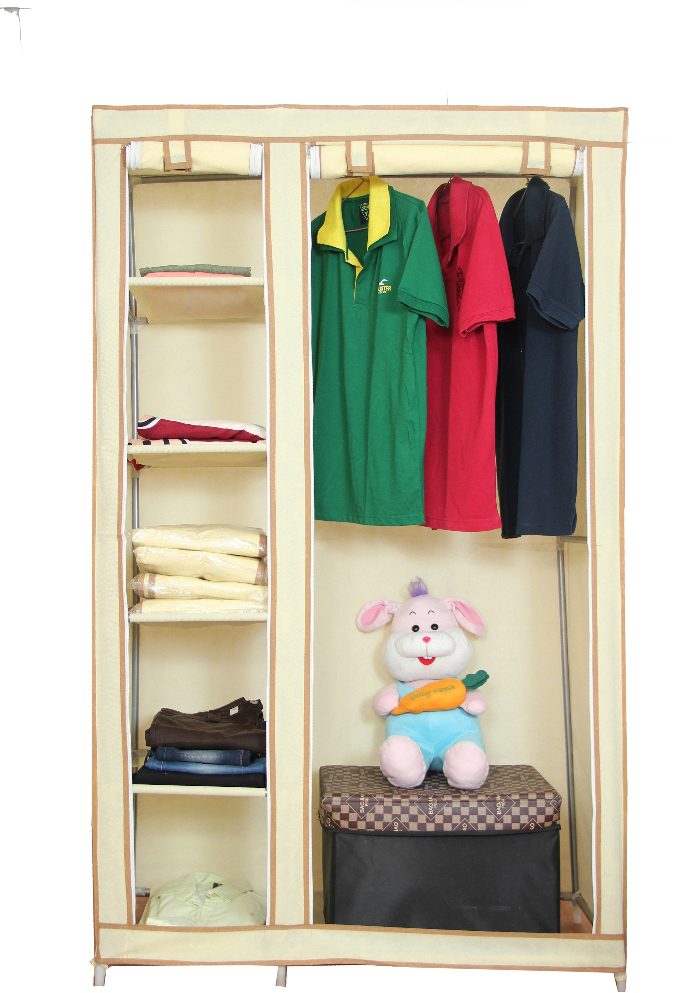 Novatic Jute Collapsible Wardrobe class=