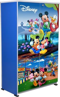 BigSmile Furniture BigSmile Kids Wardrobe - Micky Mouse Engineered Wood Cupboard(Finish Color - Blue)