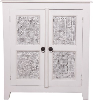 The Attic Solid Wood Cupboard(Finish Color - Duco white)