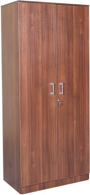 HomeTown Premier 2 Door Regato Walnut Engineered Wood Almirah