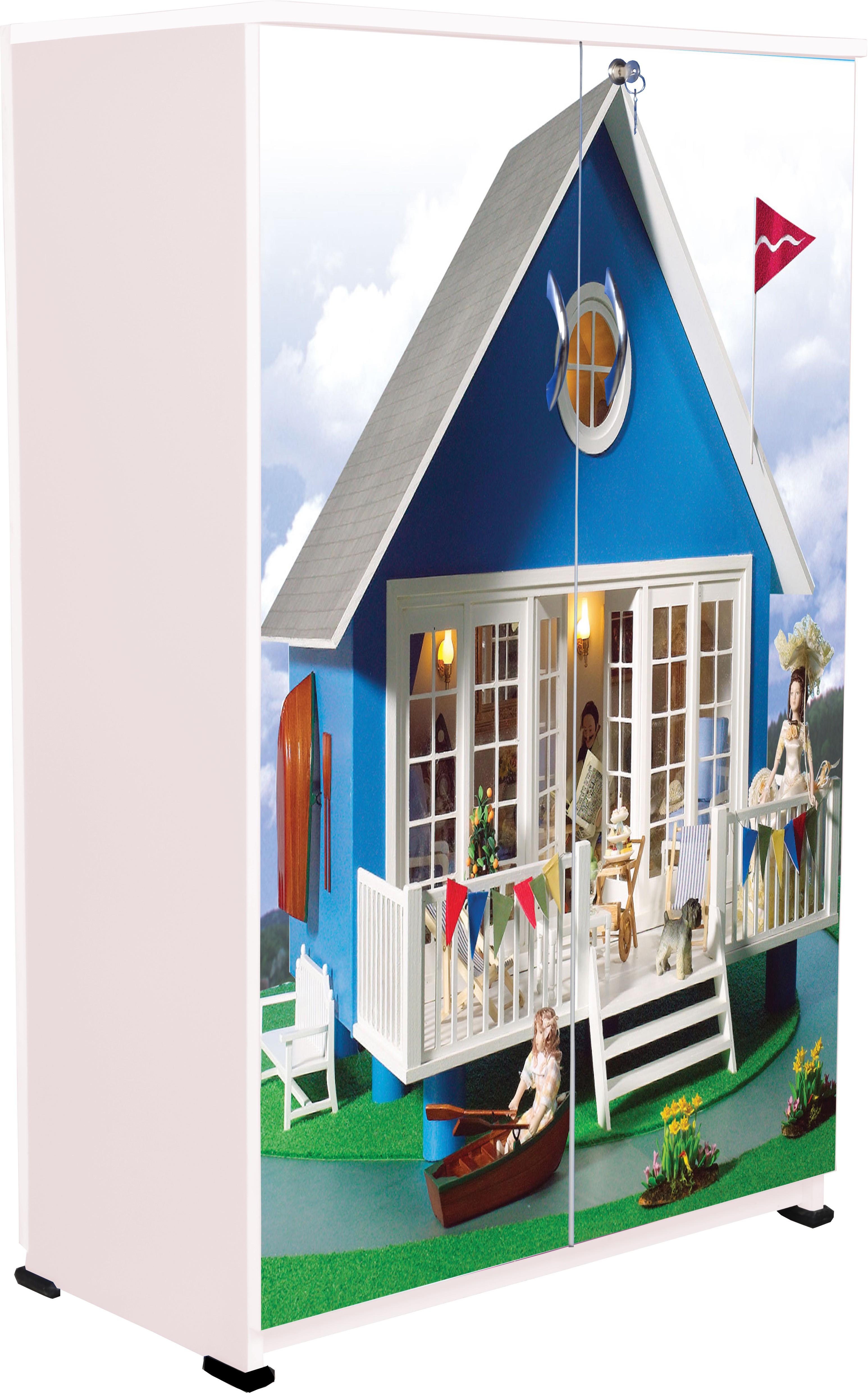 Bigsmile Furniture Bigsmile Kids Wardrobe Doll House Engineered
