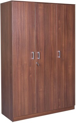 HomeTown Premier 3 Door Regato Walnut Engineered Wood Almirah(Finish Color - Regato Walnut)