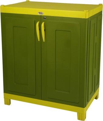 Supreme Rhythm Plastic Almirah(Finish Color - Green::Yellow)