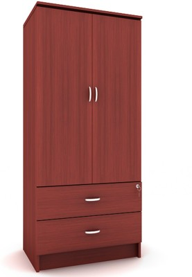 Housefull MARC 2D W/DRAWER WARD Engineered Wood Almirah(Finish Color - Mahogany) W DRAWER WDRAWER available at Flipkart for Rs.7780