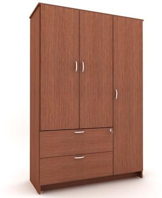 Housefull MARC 3D W/DRAWER WARD OAK Engineered Wood Almirah