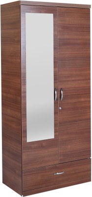 HomeTown Ultima 2 Door With Mirror Rwlnt Engineered Wood Almirah