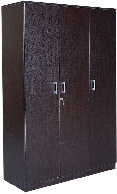 HomeTown Prime 3 Door Wenge Engineered Wood Almirah(Finish Color - Wenge)