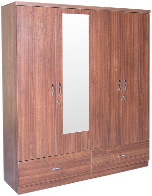 HomeTown Ultima 4 Door With Mirror Rwlnt Engineered Wood Almirah