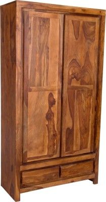 The Attic Solid Wood Almirah(Finish Color - Natural)