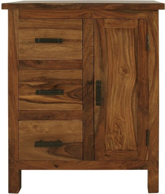 The Attic Solid Wood Cupboard(Finish Color - Walnut Brown)