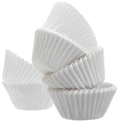 hpk 50 Cavities White Cupcake Inserts(Pack of 50)