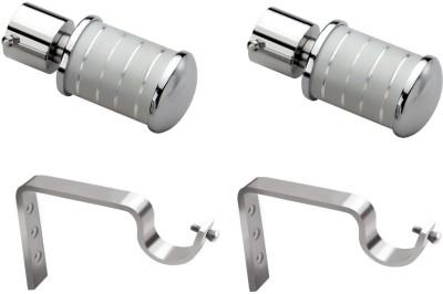 Starz Decor Silver Rod Rail Bracket