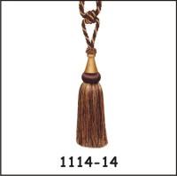 Tophome.in Brown, Gold Tieback Hook(Pack of 2)