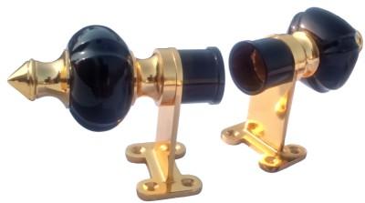 Aone Quality Black, Gold Rod Rail Bracket