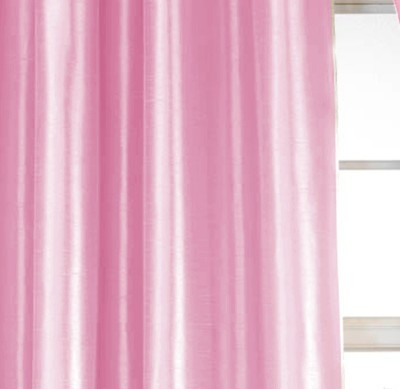Dekor World Solid Crush Curtain Fabric(Pink, 10 m)