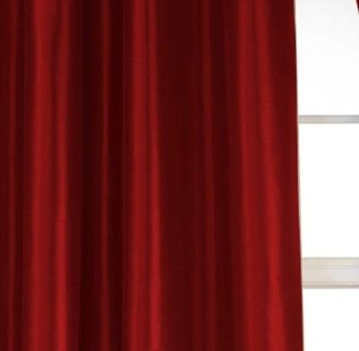 Dekor World Solid Crush Curtain Fabric(Maroon, 20 m)