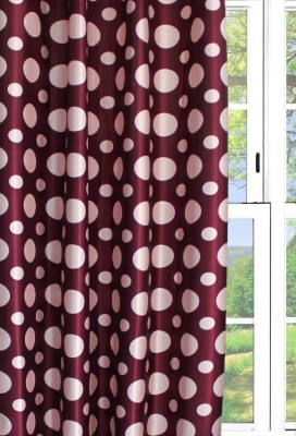 Dekor World Circular Curtain Fabric(Purple, 20 m)