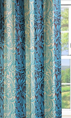Dekor World Double Altra Curtain Fabric(Blue, 10 m)