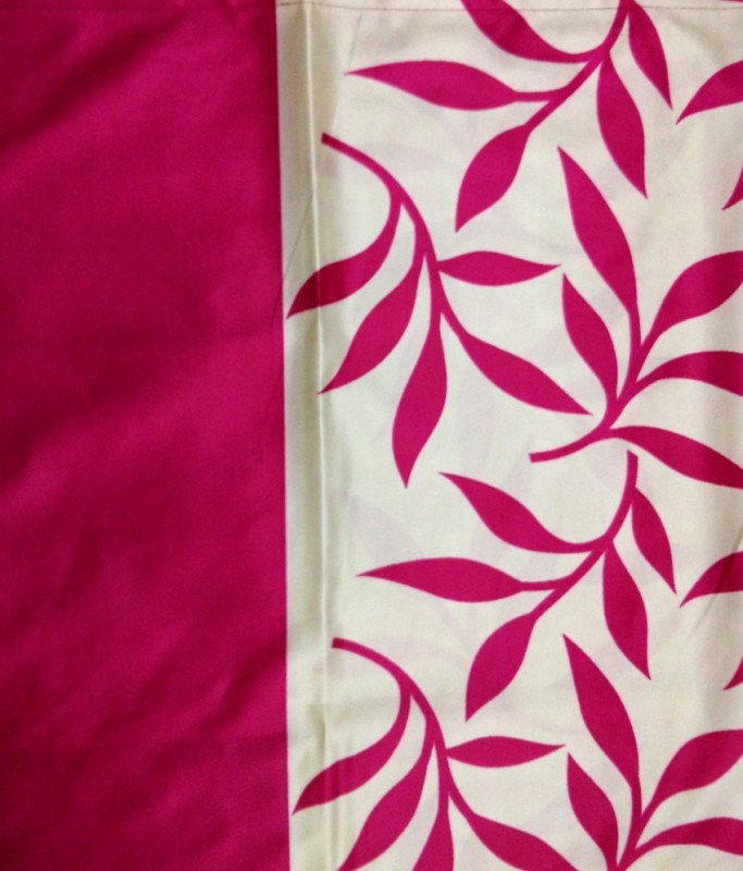Excel Bazaar KCF458 Curtain Fabric(Pink, 6 m)