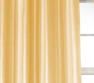 Dekor World Solid Crush Curtain Fabric(Beige, 5 m)