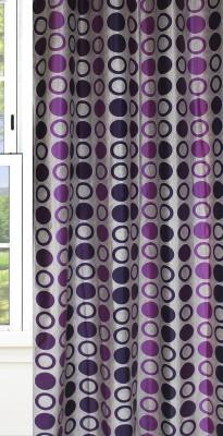 Dekor World Dot Curtain Fabric(Purple, 10 m)